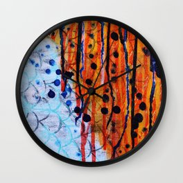Koi Fire Wall Clock