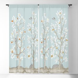 Citrus Grove Mural in Mist Blackout Curtain