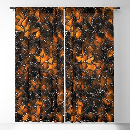 Ancient Amber Tiles Set in Gothic Metal Blackout Curtain