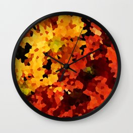 Yellow and Red Sunflowers Wall Clock