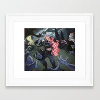 studio killers Framed Art Prints featuring Crossover Killers by Dojo