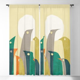 Wild birds at the beach Blackout Curtain