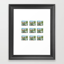 A Cottage Painting to tiny prints Framed Art Print