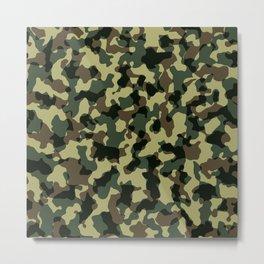 Camouflage Pattern II Metal Print