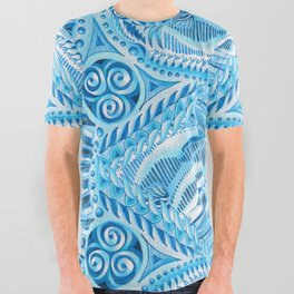 Polar Bear Pattern All Over Graphic Tee