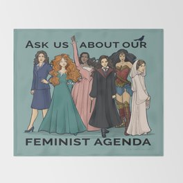 Feminist Agenda Throw Blanket