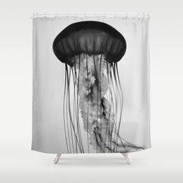 Jellyfish Black and White Shower Curtain