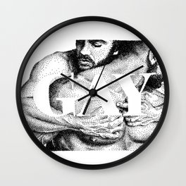 Gay Lettering Typography Wall Clock