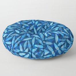 Indigo Botanical Pattern Floor Pillow