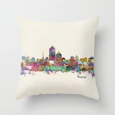 Albuquerque New Mexico skyline Throw Pillow