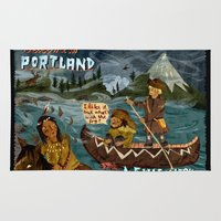 postcard Area & Throw Rugs featuring Postcard from Lewis + Clark by Christiane Engel