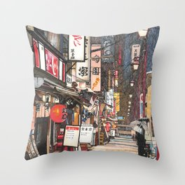 Lights in the Snow Throw Pillow