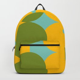 Rebel Greens #retro #circles Backpack