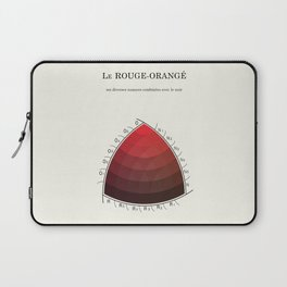 Le Rouge-Orangé (ses diverses nuances combinées avec le noir) Remake (Interpretation) Laptop Sleeve