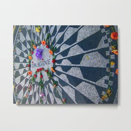 Imagine in Strawberry Fields Metal Print