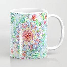 Messy Boho Floral in Rainbow Hues Coffee Mug
