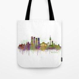 Madrid City Skyline HQ v5 Tote Bag