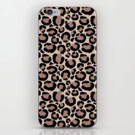 Tan Leopard Print iPhone Skin