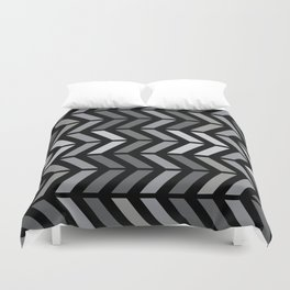 Chevron Black Gray Duvet Cover