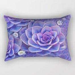 """""""Bouquet of pastel violet exotic succulents"""" Rectangular Pillow"""
