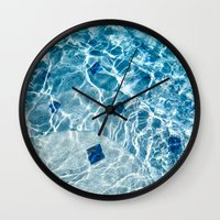 pool Wall Clocks featuring Pool by Britt Mansouri