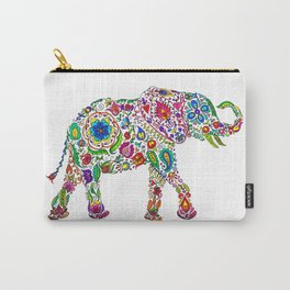 Flowery Elephant Carry-All Pouch
