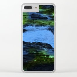 Mysterious, Surreal Running Creek Clear iPhone Case