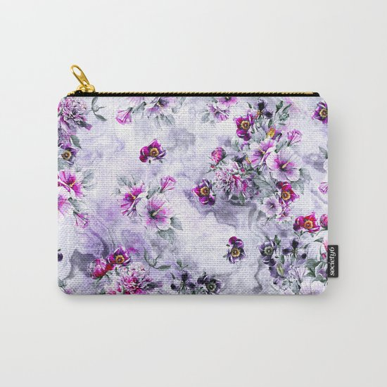 Floral Ocean Soft Carry-All Pouch