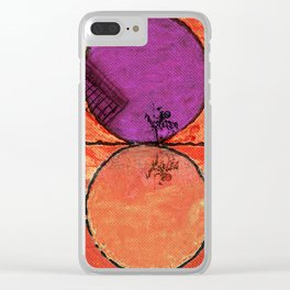 Don Quixote and the backlands of Brazil Clear iPhone Case