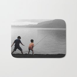 On The Lake Bath Mat