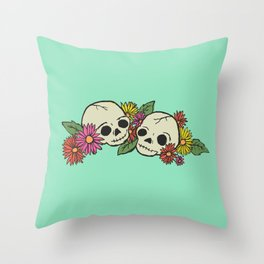 Twin Skeletons Throw Pillow