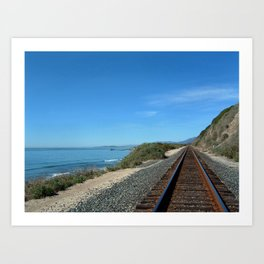 Costal Train Tracks Art Print