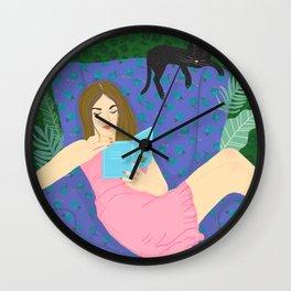 Reading at home  Wall Clock