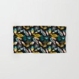 bold palm leaves Hand & Bath Towel