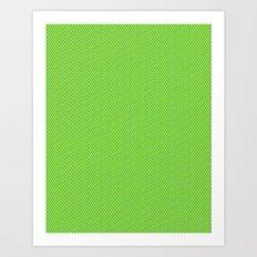Picnic Pals mini dot in citrus Art Print