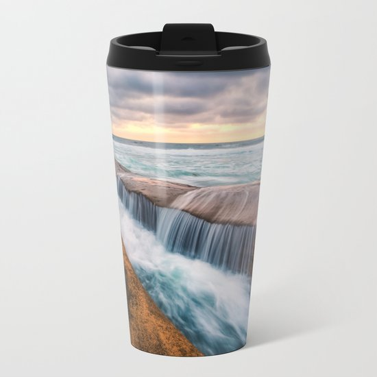 Ocean waves landscape Metal Travel Mug