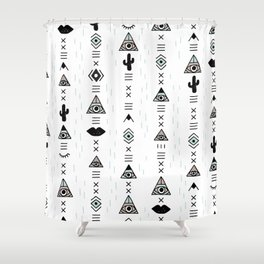 Native desert life print Shower Curtain