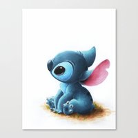 stitch Canvas Prints featuring Stitch by Patricia Teo