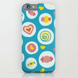 Blue circles sweet love  iPhone Case