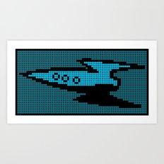 Space Adventure: Rocket Art Print
