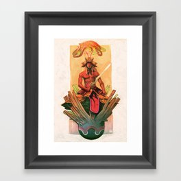 The stone egg & the birth of Sun Wukong Framed Art Print