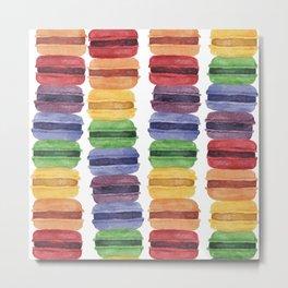 Rainbow Macaron Metal Print