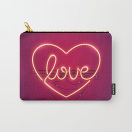 Love Heart Neon Sign Carry-All Pouch