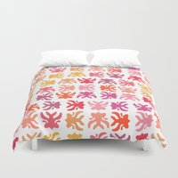 swimming Duvet Covers featuring Swimming by Robin Gayl