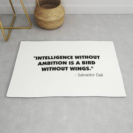 Intelligence Without Ambition is a Bird Without Wings - Salvador Dalì Rug