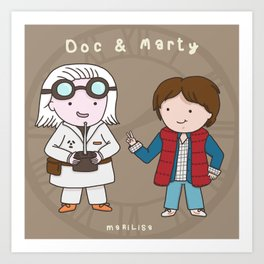 Yay, it's Back to the Future Day! Art Print