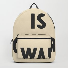 War is over, if you want it, peace message, vintage illustration, anti-war, Happy Xmas, song quote Backpack