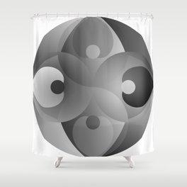B/W Balance Shower Curtain