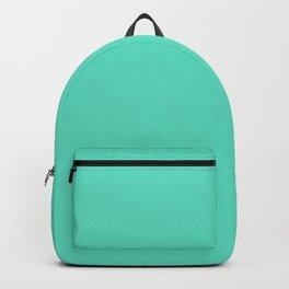 Aqua Blue Solid Color Backpack