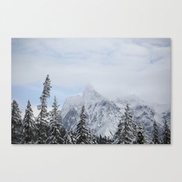 Man and Mountains Canvas Print